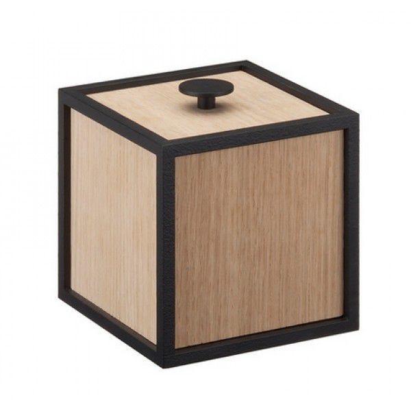 MDF Storage Box / Wood Veneer / Lacquered Steel   FRAME 10