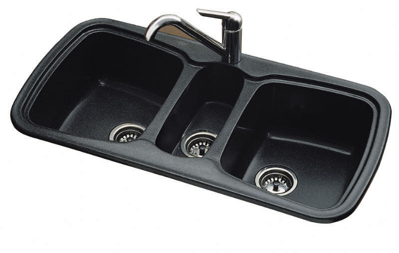 Triple Bowl Kitchen Sinks Triple bowl kitchen sink composite onice sanizeo triple bowl kitchen sink composite workwithnaturefo