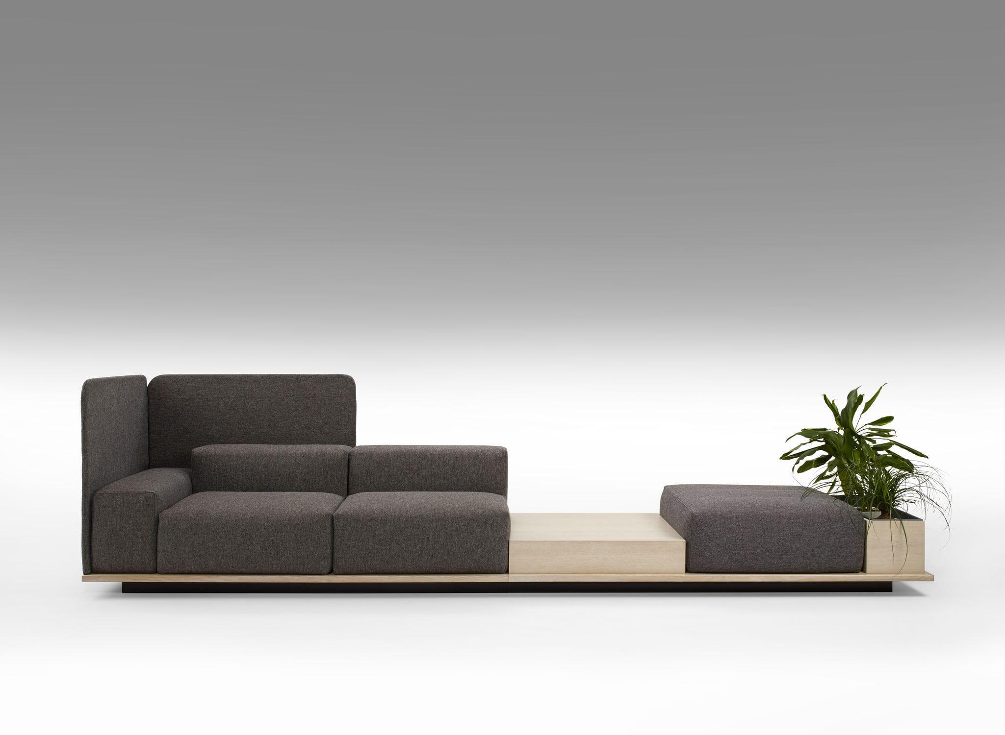 Modular Sofa / Contemporary / Leather / Wooden MEET By Fattorini, Rizzini U0026  Partners OFFECCT ...