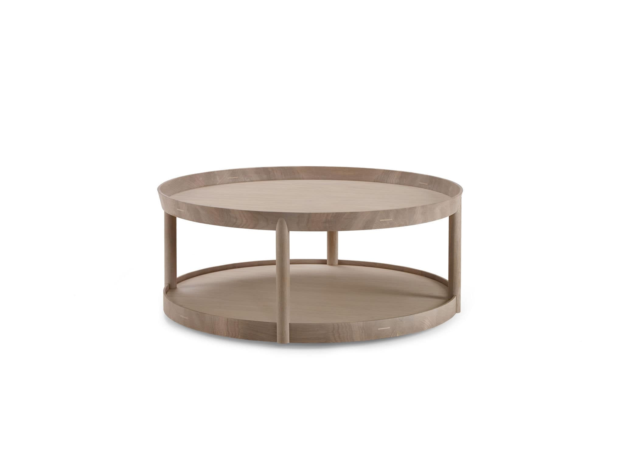 ... Contemporary Coffee Table / Oak / Round / Commercial ...