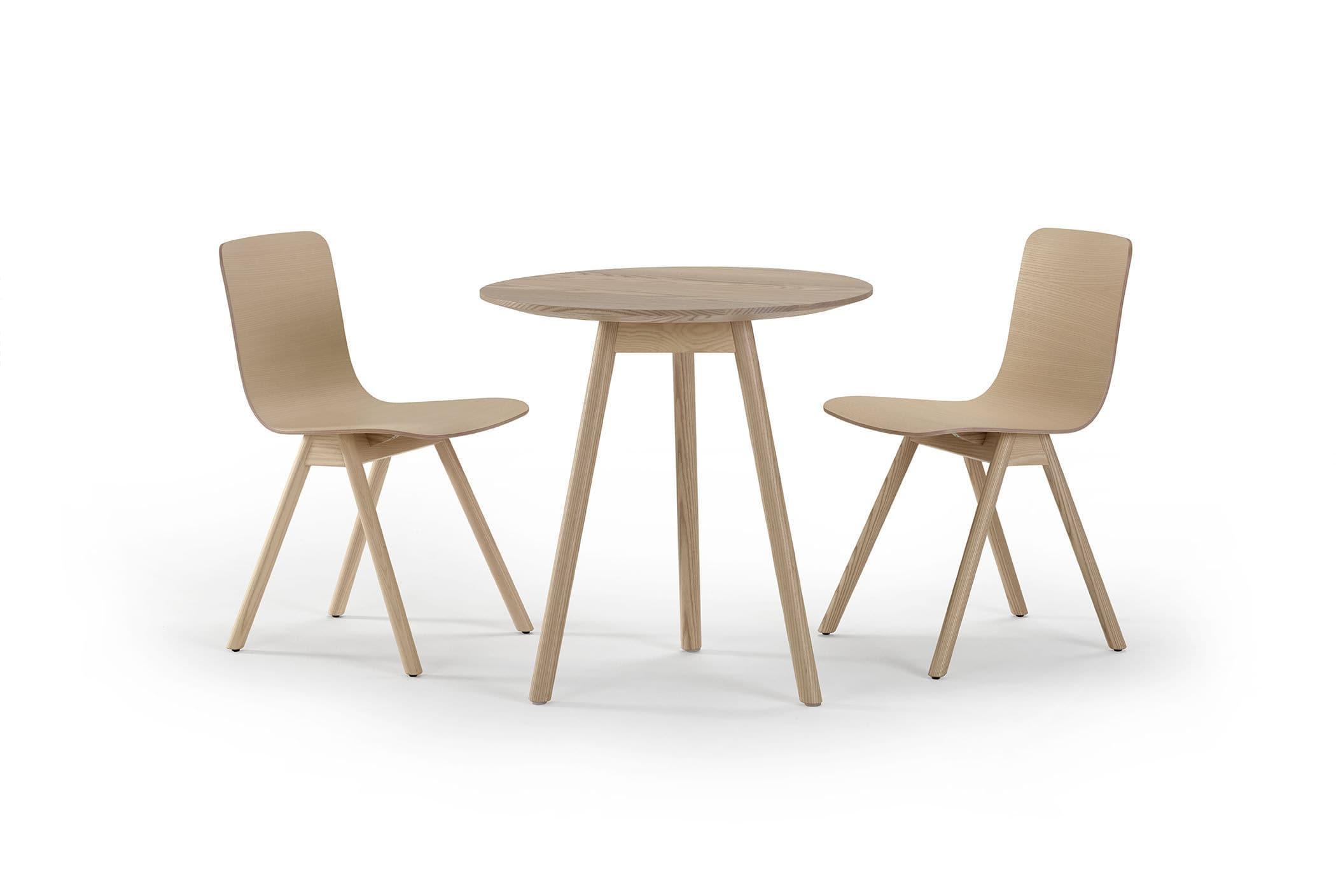Round school table -  Contemporary Table Oak Ash Rectangular Kali Offecct