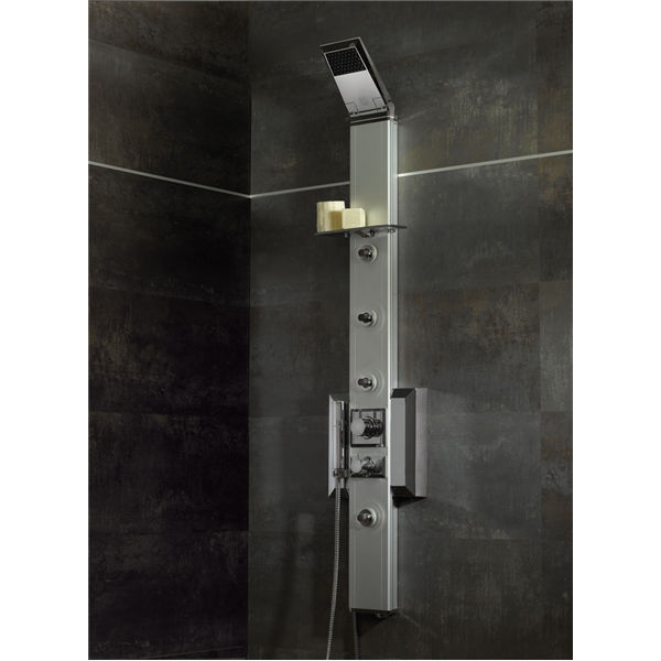 Wall-mounted shower set / contemporary / thermostatic - 016-600SP ...