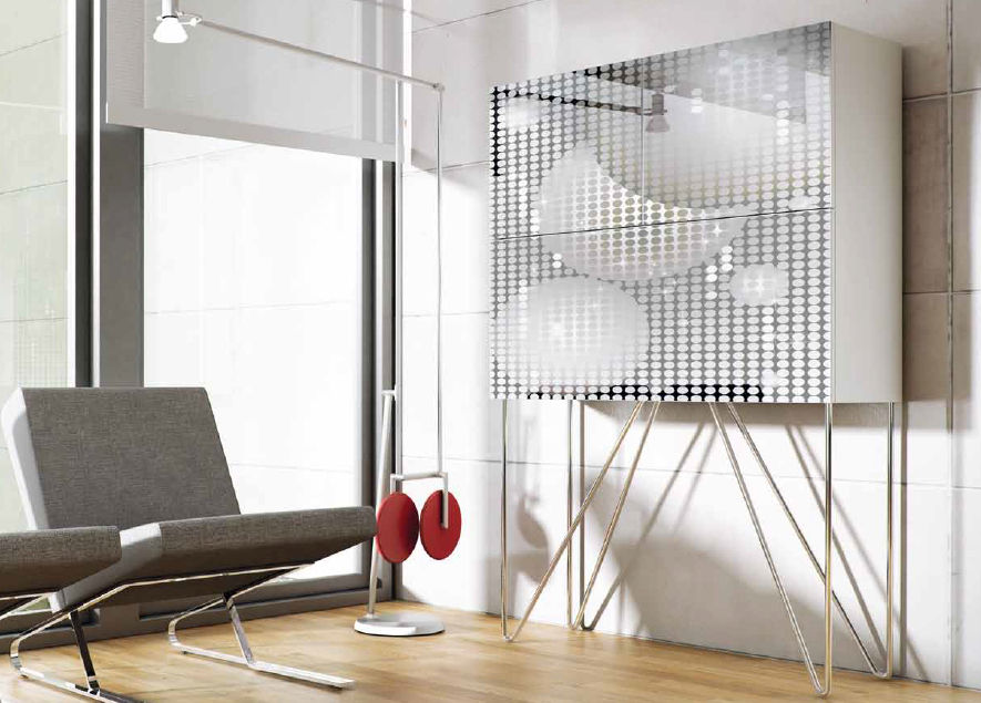 Contemporary Bar Cabinet / Lacquered Wood   FEVER