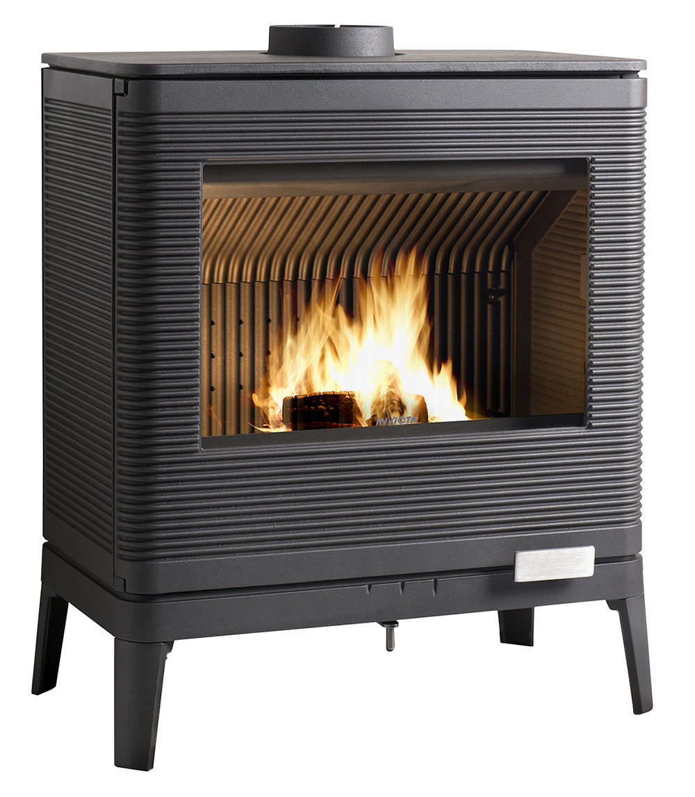 Wood Heating Stove Contemporary Metal Kazan By B Dequet Invicta
