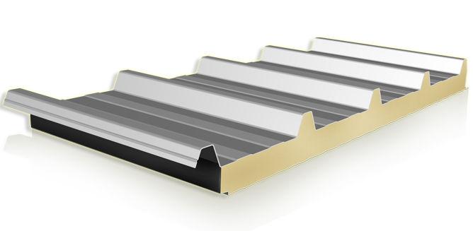 Roof sandwich panel / metal facing / polyisocyanurate (PIR) core ...