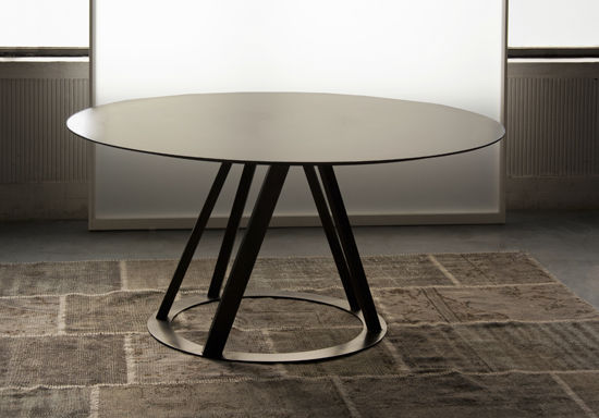 Delightful Contemporary Table / Metal / Round / 100% Recyclable   BIG IRONY By  Maurizio Peregalli