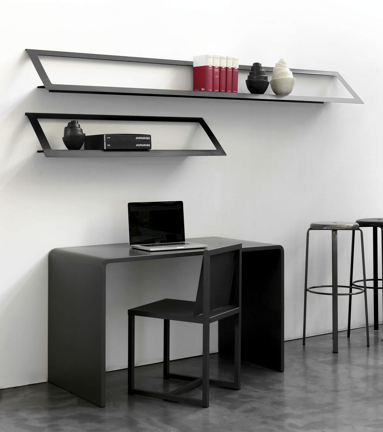 Wall mounted shelf contemporary metal AIR by Maurizio