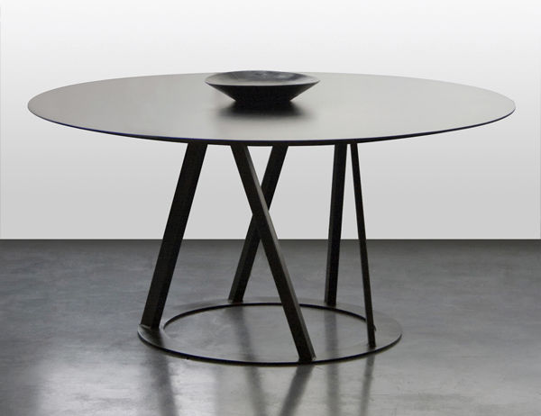 contemporary table / metal / round / 100% recyclable - big irony