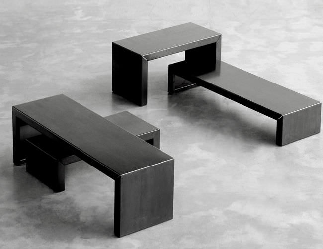 Contemporary Coffee Table Metal Rectangular Small Irony By Maurizio Peregalli