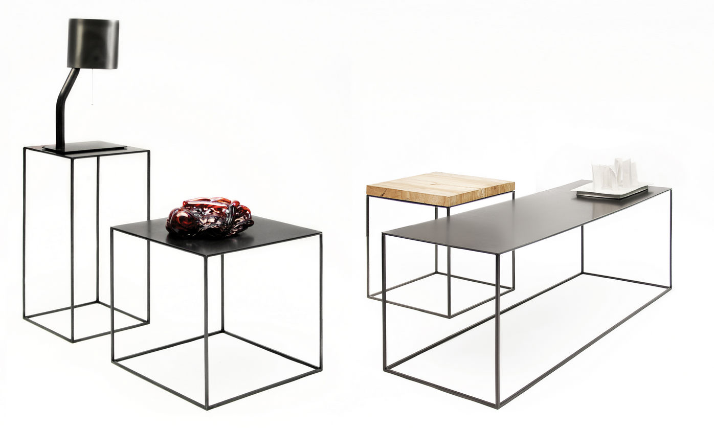 Contemporary Side Table / Metal / Rectangular   SLIM IRONY By Maurizio  Peregalli