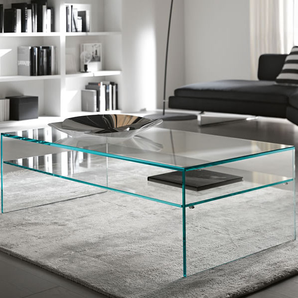 Contemporary Coffee Table / Frosted Glass / Rectangular / Transparent    FRATINA 2 By M.U
