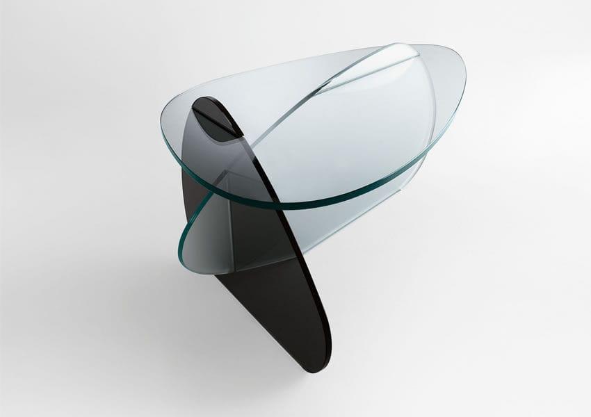 ... Contemporary Coffee Table / Glass / Triangular / By Karim Rashid KAT  TONELLI Design