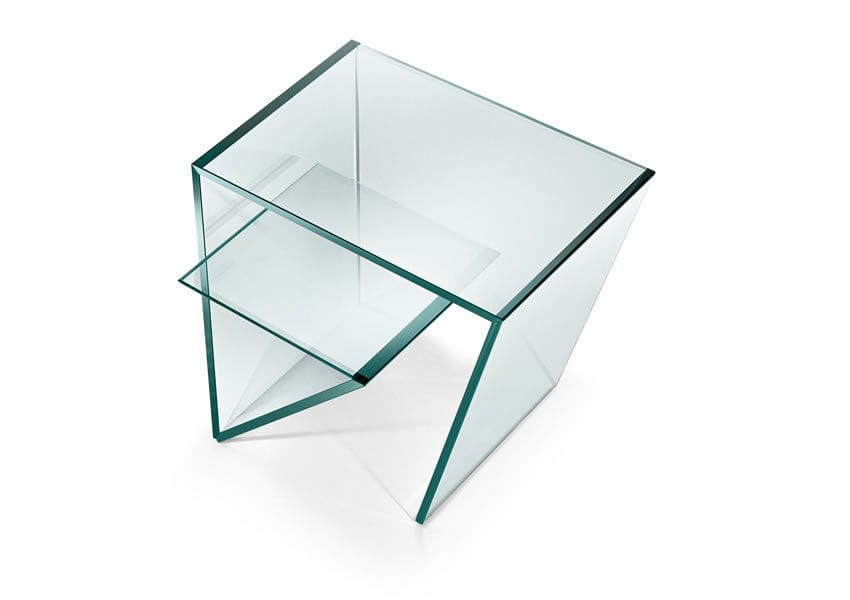 ... Contemporary Side Table / Glass / Rectangular ZEN By Gonzo U0026 Vicari  TONELLI Design