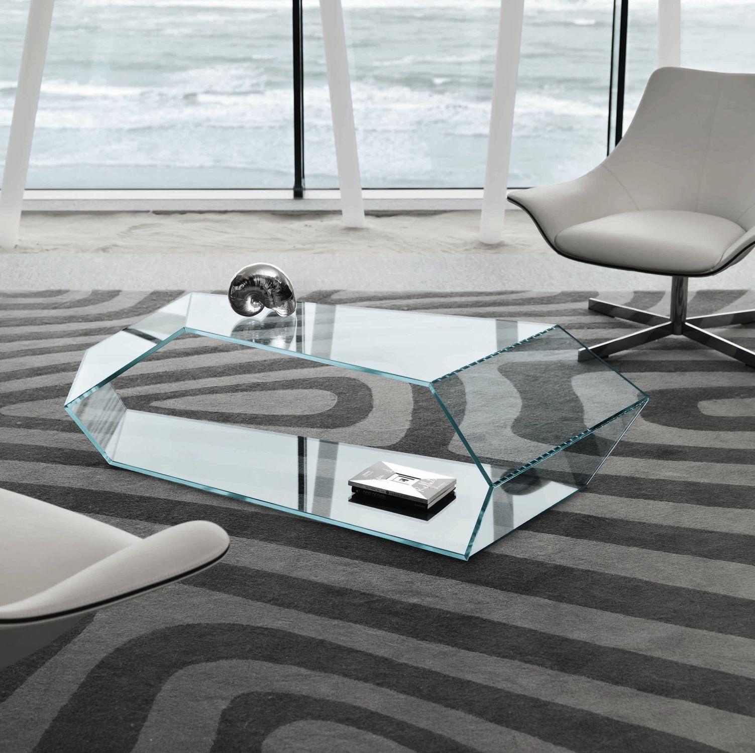 Contemporary coffee table glass by Karim Rashid DEKON 2