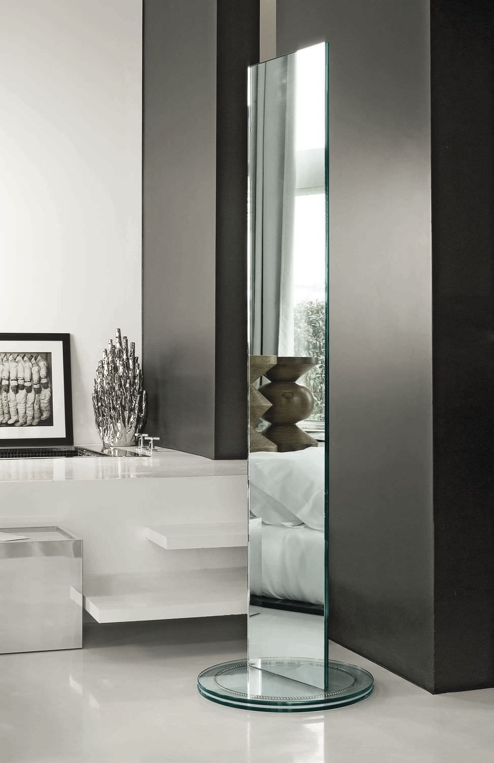 Free-standing mirror / double-sided / contemporary / rectangular ...