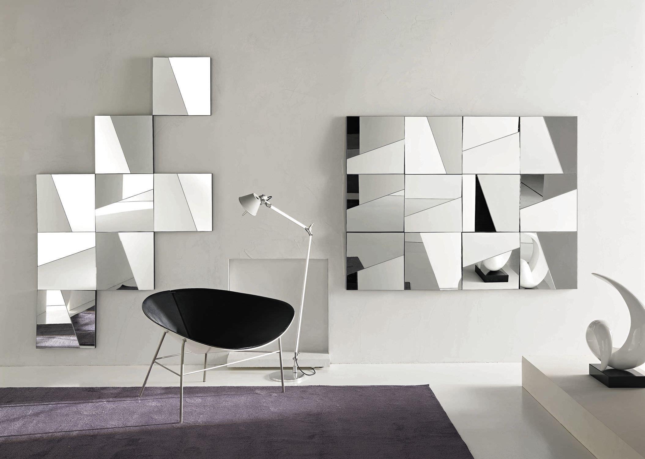 wall mounted mirror contemporary square stati danimo by giovanni tommaso garattoni