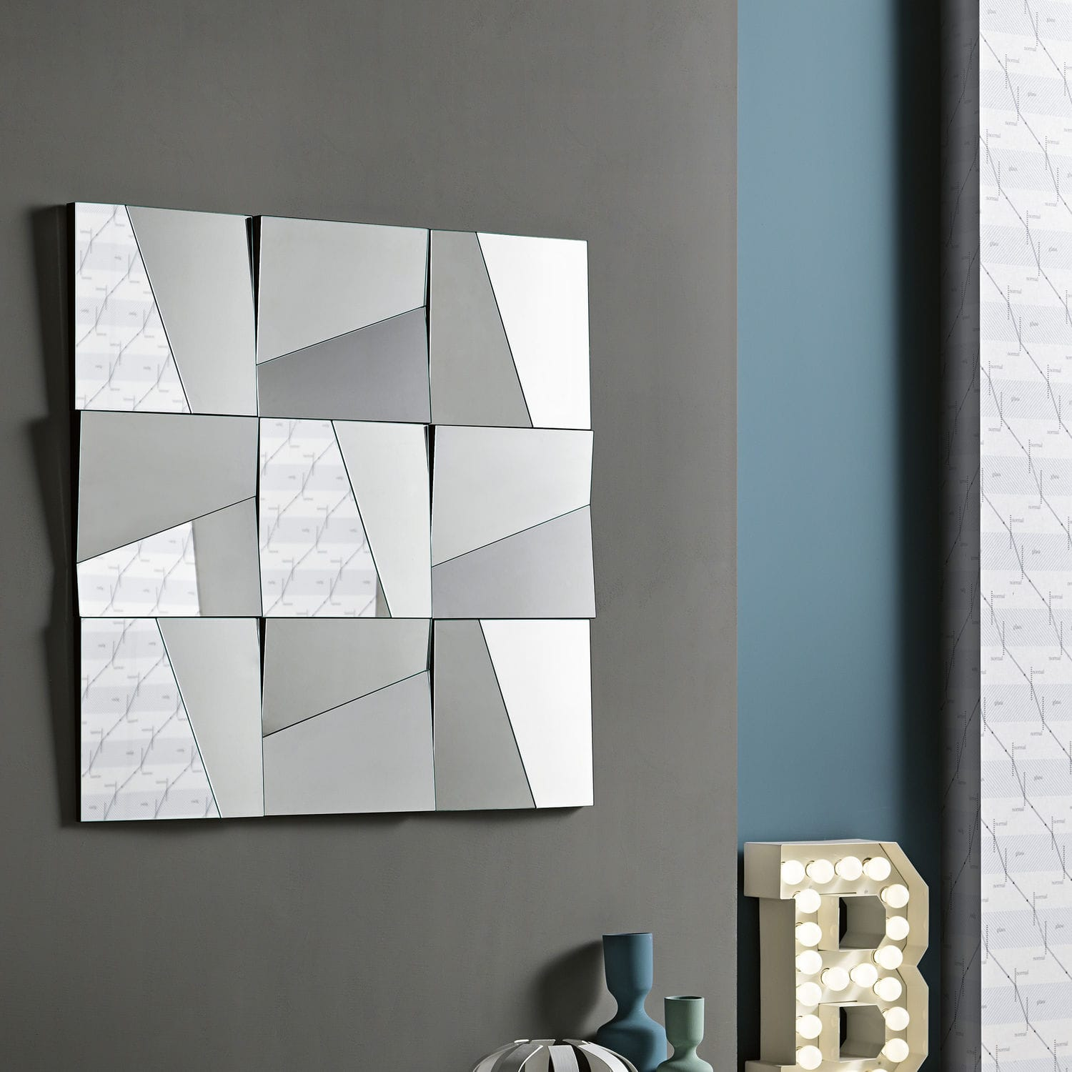 wall-mounted mirror / contemporary / rectangular / square - stati ... - Spiegel Modern