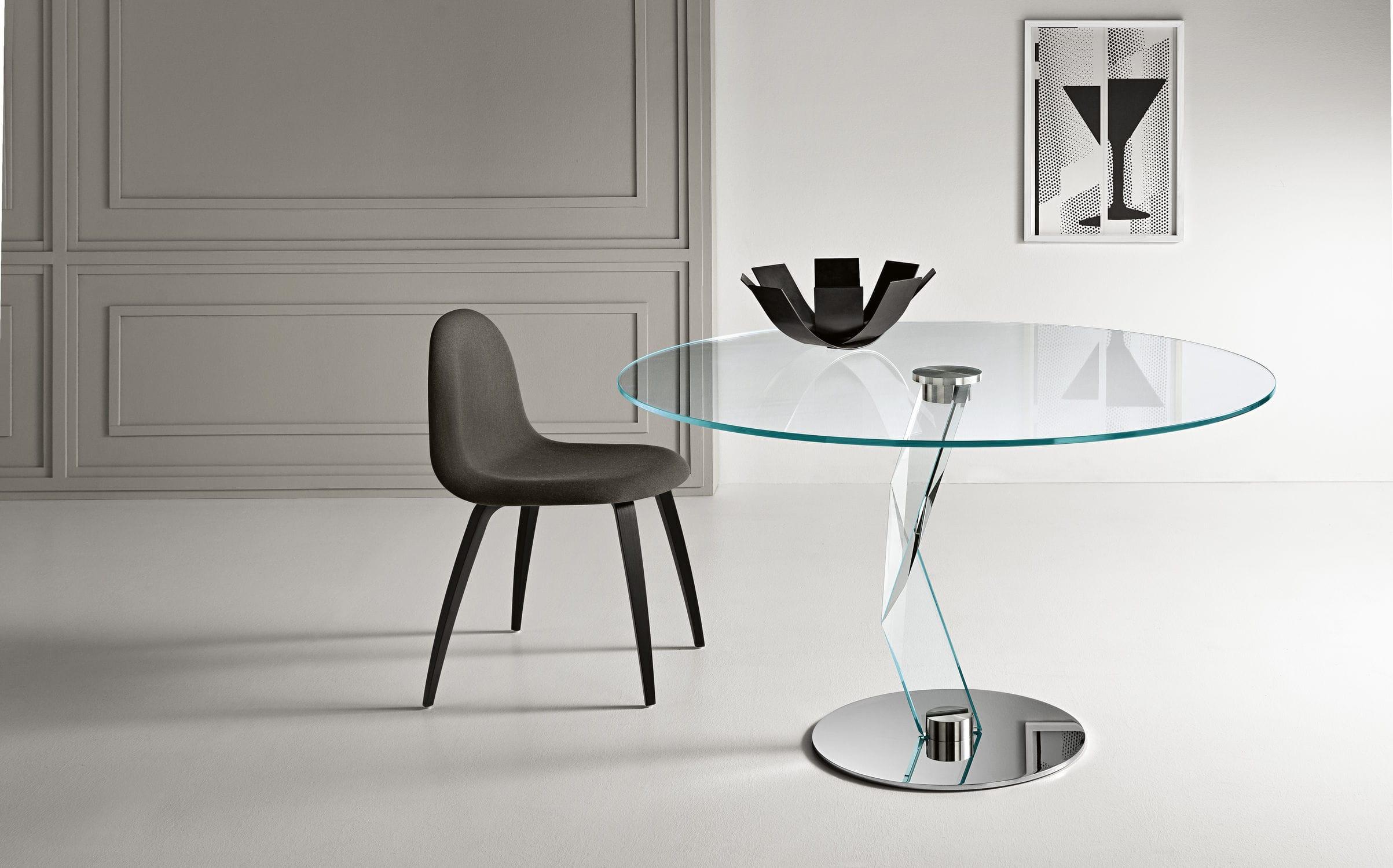 Contemporary dining table glass crystal metal BAKKARAT