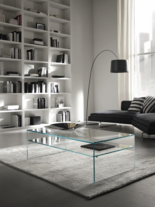 coffee table / contemporary / glass / rectangular - fratina due
