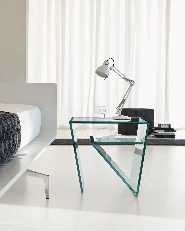 Contemporary Side Table / Glass / Rectangular ZEN By Gonzo U0026 Vicari TONELLI  Design ...