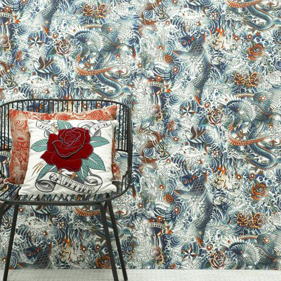 original design wallpaper / patterned / non-woven - IRESUMI