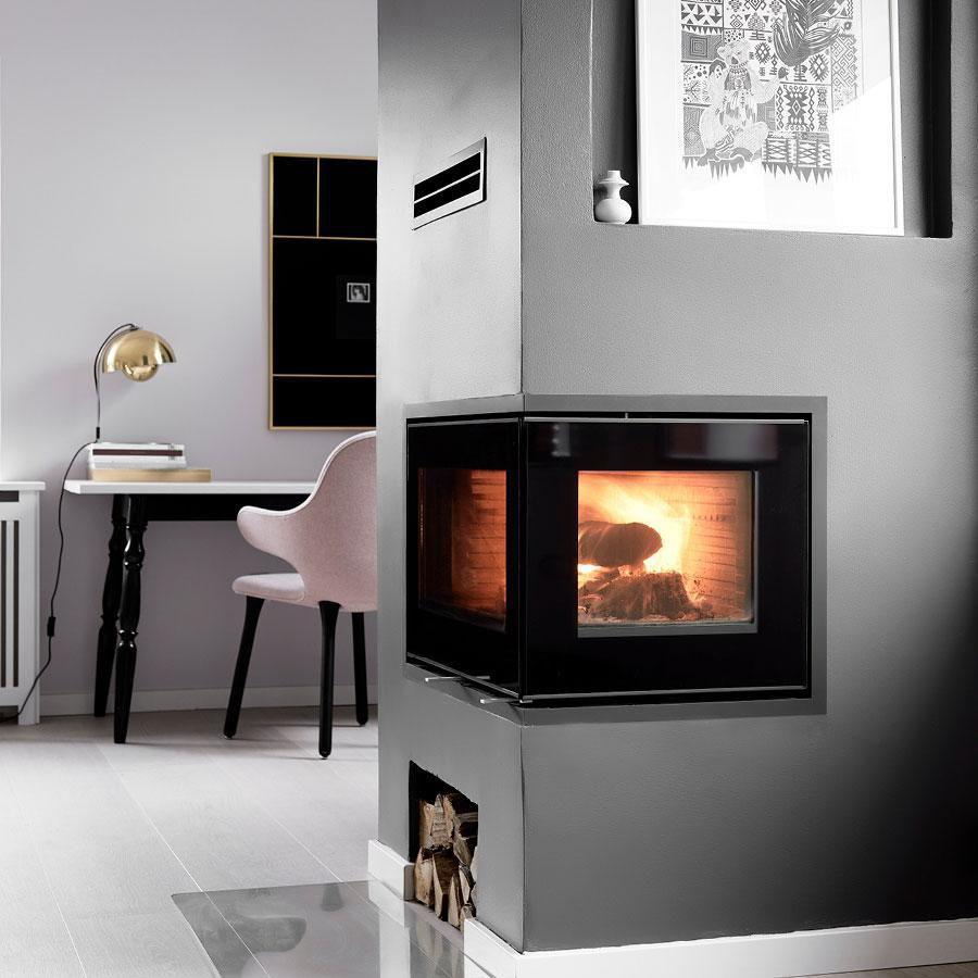 Wood Burning Fireplace Insert Corner 500 Rais