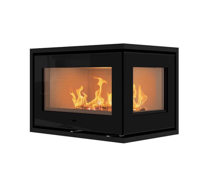 Wood-burning fireplace insert / corner - 500² - RAIS