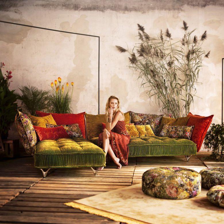 Exklusive Sofas Und Couches modular sofa contemporary velvet 3 seater ohlinda by carolin