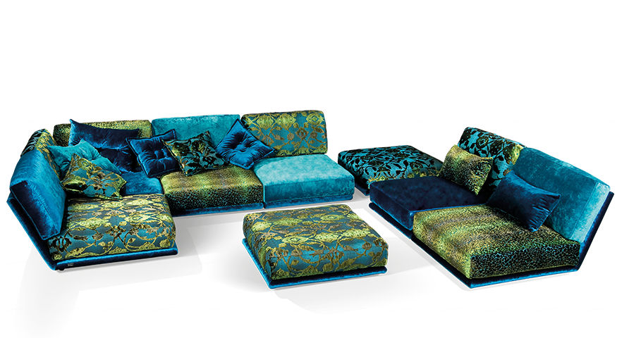 Bretz Sofa modular sofa contemporary velvet leather napali bretz