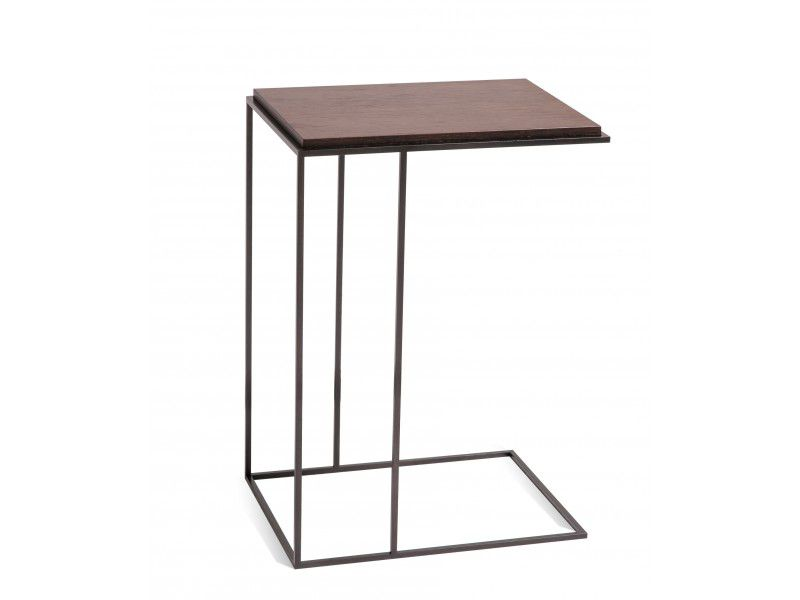 Charmant Contemporary Side Table / Wooden / Metal / Rectangular   KARUSA
