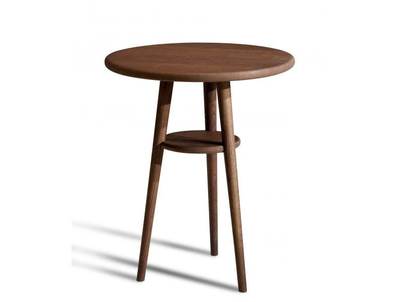 contemporary side table wooden round capri - Table D Appoint Ronde