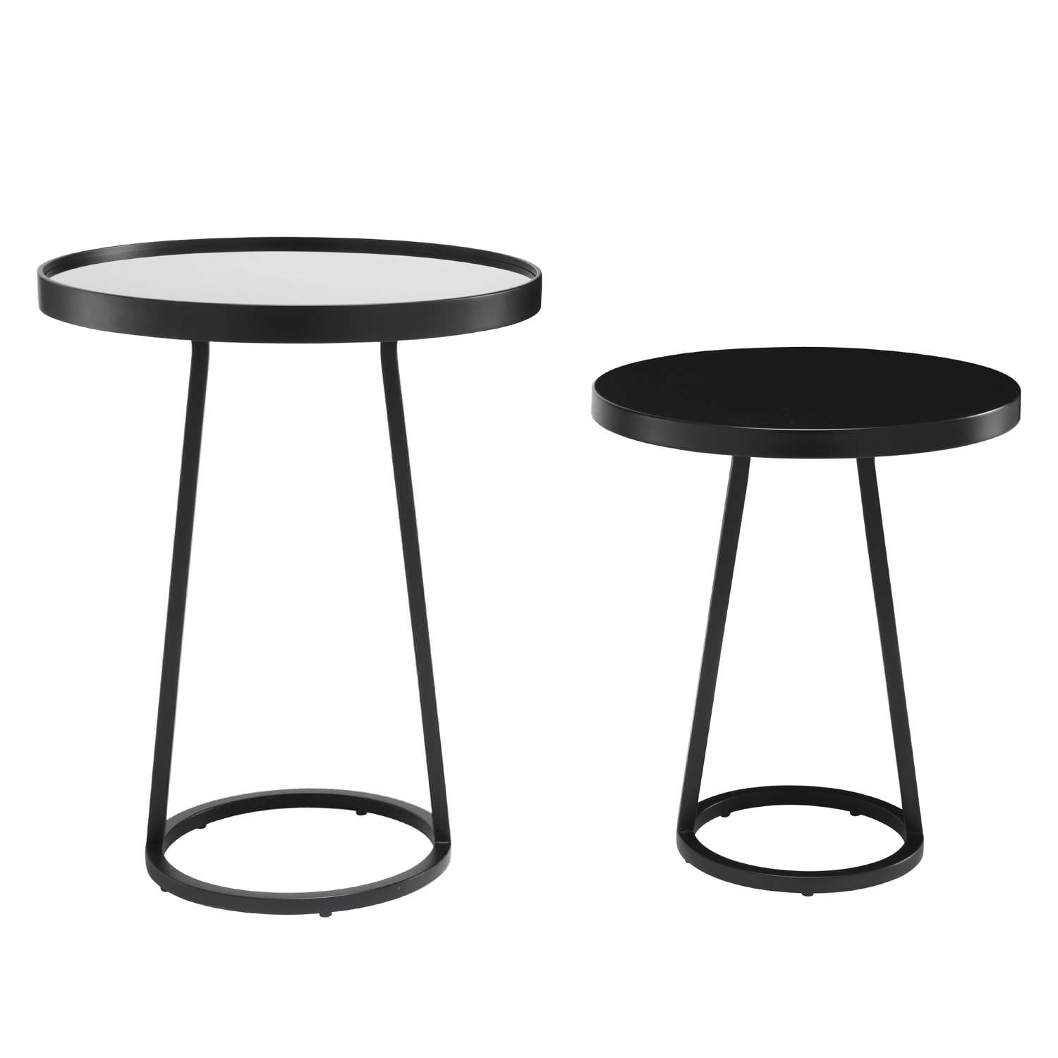 contemporary side table glass porcelain stoneware lacquered steel circles by maria jeglinska cinna - Table D Appoint Ronde