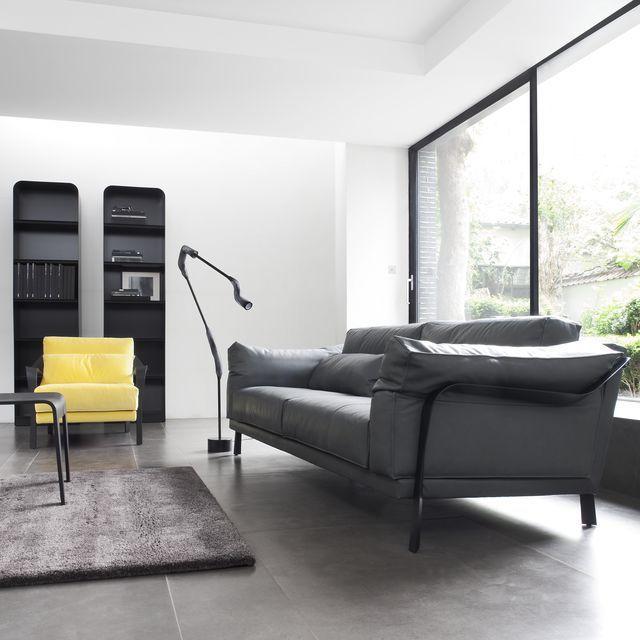 Contemporary sofa / fabric / cast aluminum / by Pascal Mourgue ...