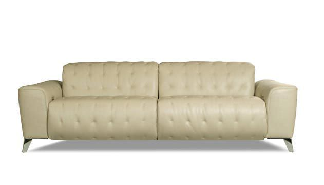 Contemporary sofa / leather / 3-seater / adjustable - SATELLITE by ...