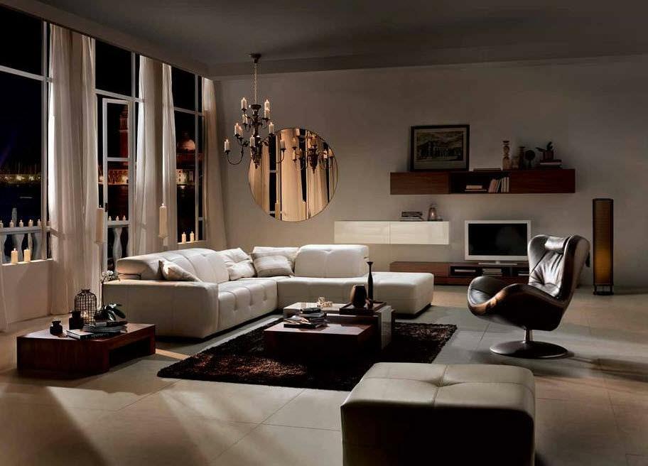 Modular sofa / contemporary / leather / 2-seater - SURROUND ...