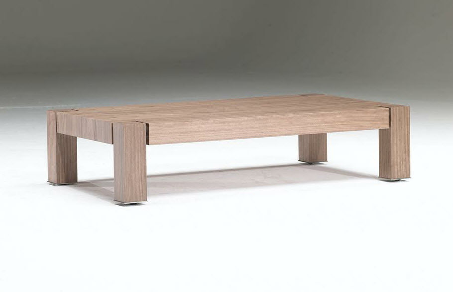 Contemporary coffee table / wooden / rectangular / on casters - ATOS ...