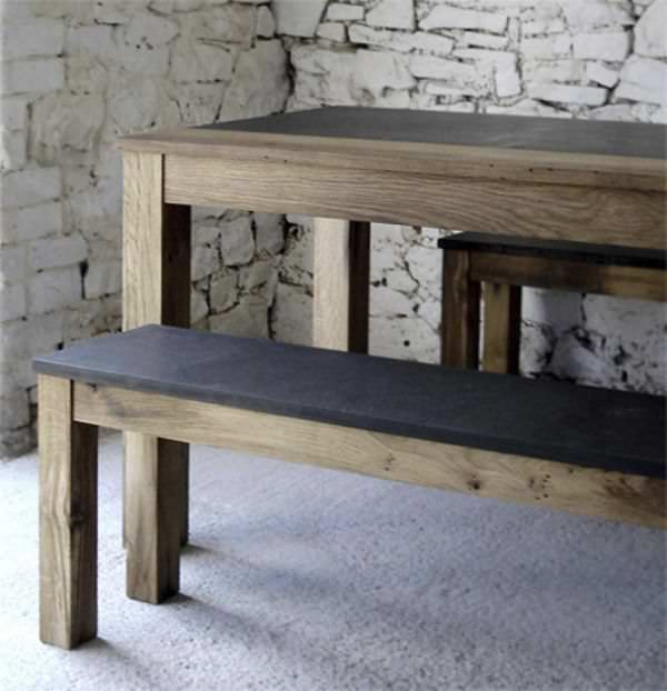 ... Public Bench / Garden / Traditional / Stone BENCH IN ITALIAN SLATE  Ardesia Mangini A ...