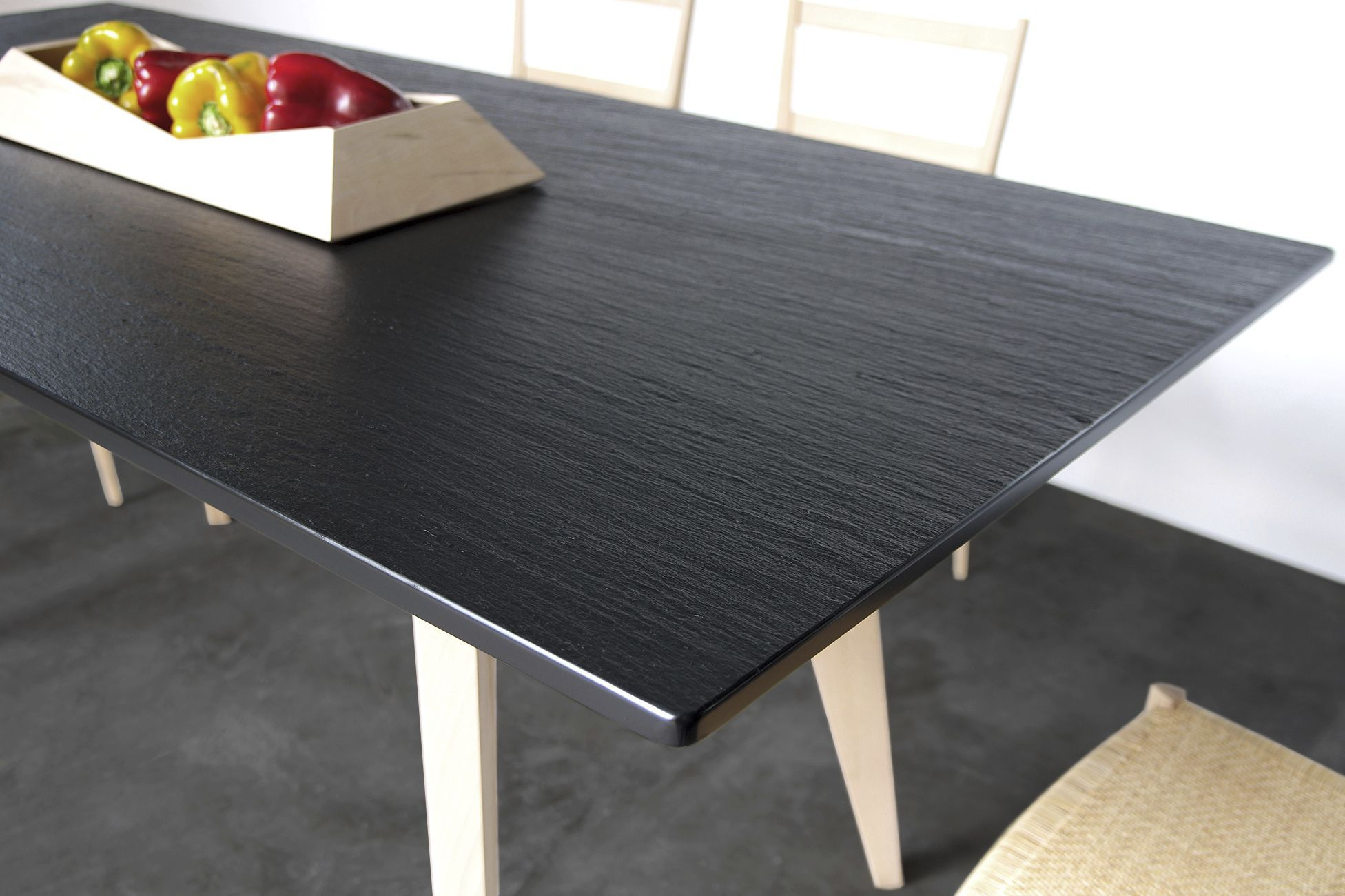 Wonderful ... Contemporary Dining Table / Slate / Rectangular / Outdoor ...