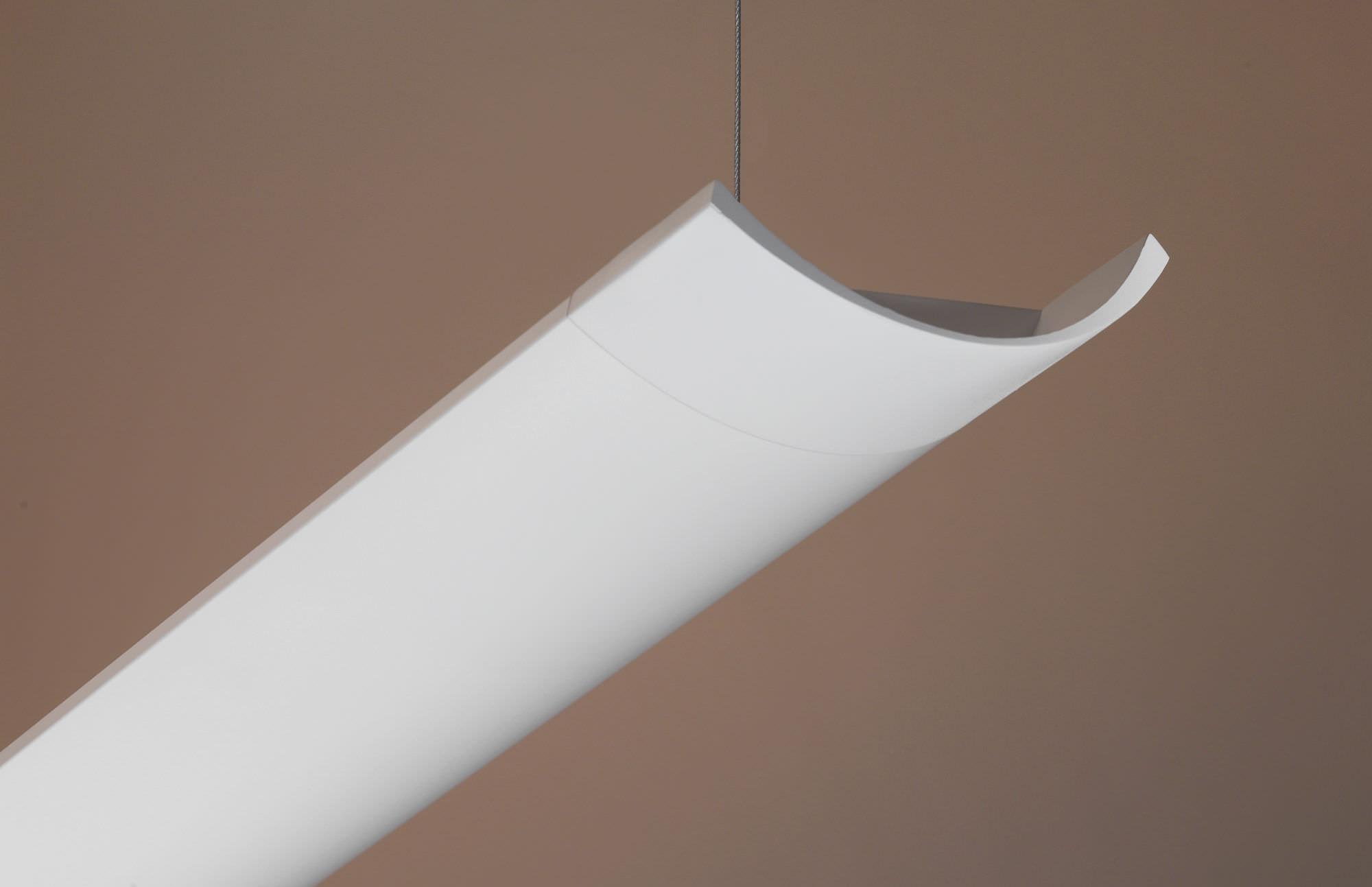 Hanging Light Fixture Fluorescent Linear Aluminum