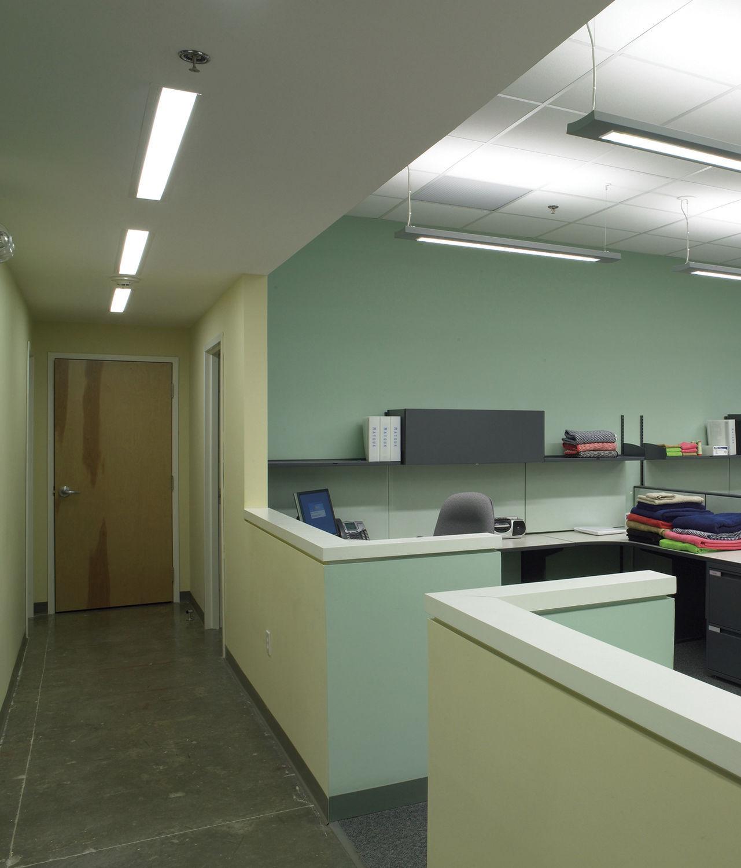 Recessed Ceiling Light Fixture Fluorescent Linear Steel