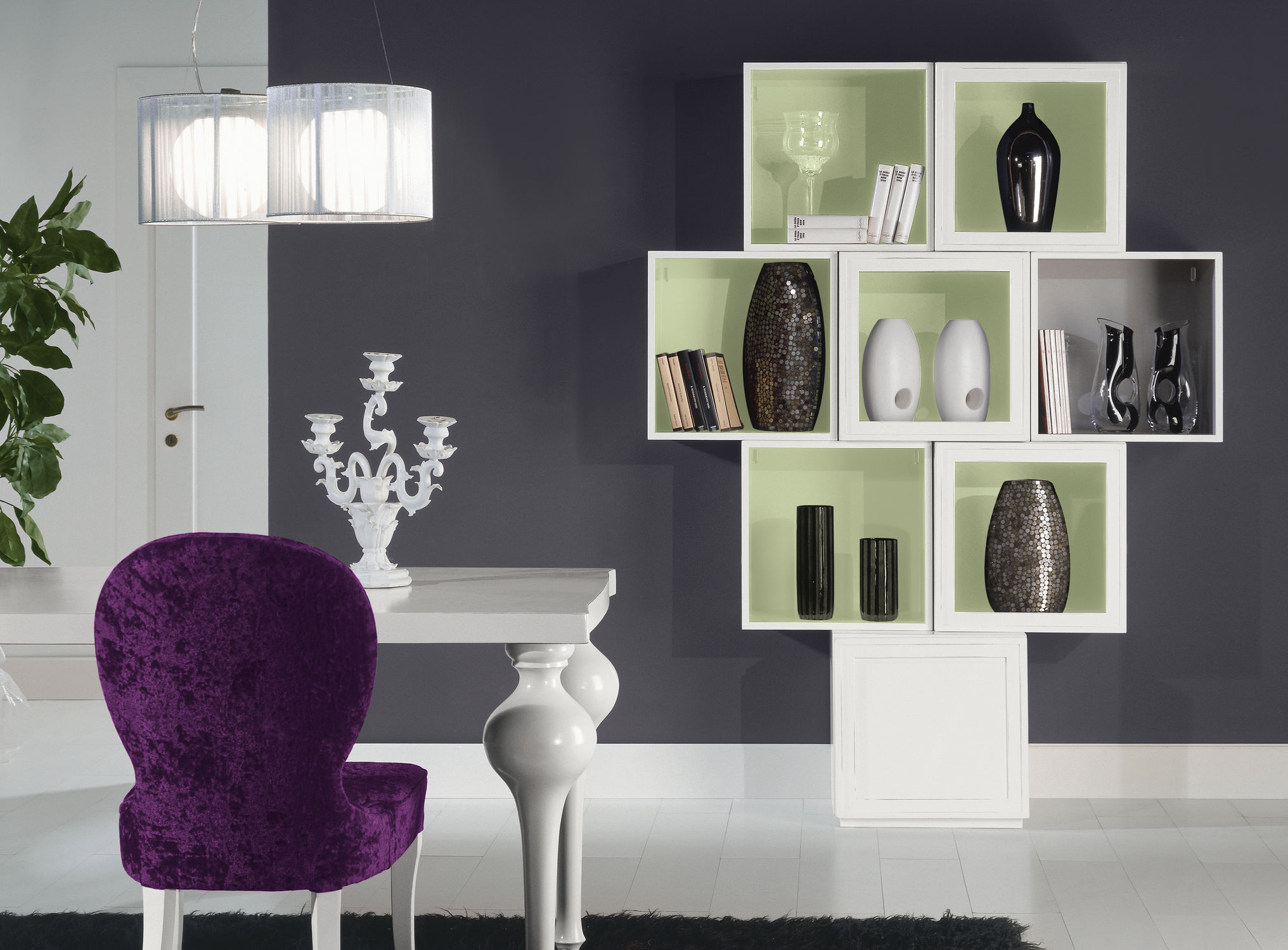 ... Wall-mounted shelf / contemporary / wooden Q-BOX VIOLA F.LLI MIRANDOLA  ...