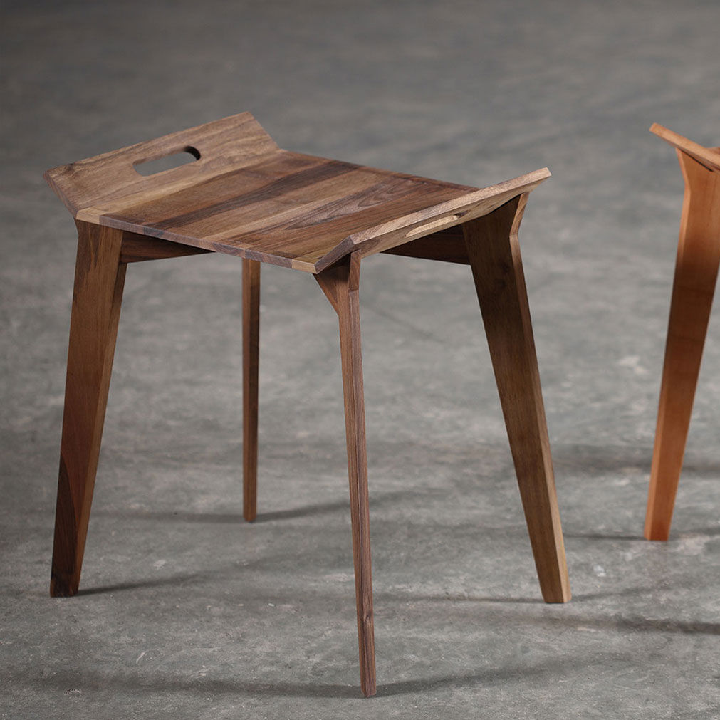 Contemporary Side Table / Oak / Walnut / Cherrywood   TANZ By Grupa