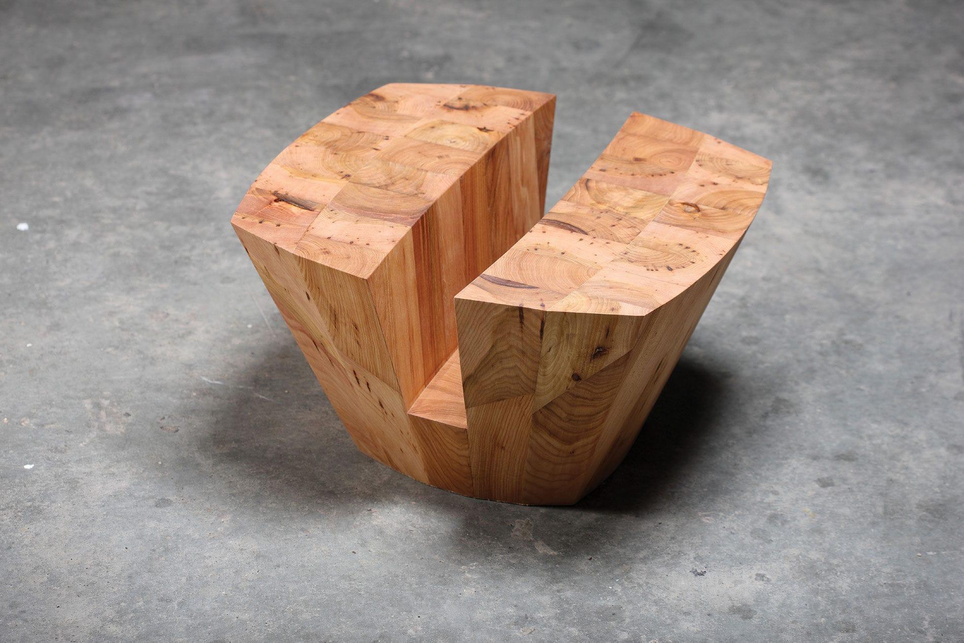 Contemporary coffee table oak walnut cherrywood KART
