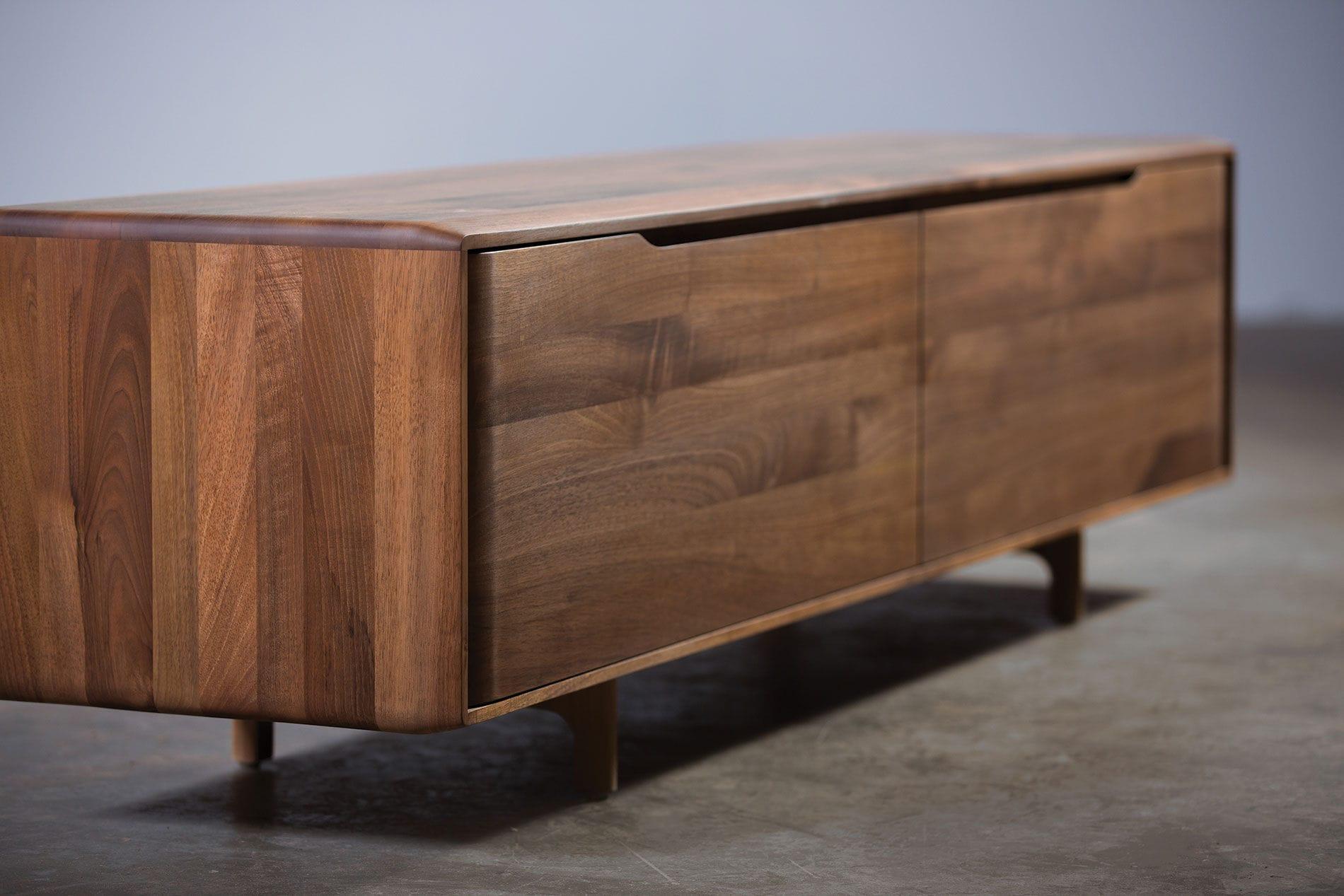 contemporary sideboard  oak  walnut  solid wood  invito by  -  contemporary sideboard  oak  walnut  solid wood invito by michaelschneider artisan solid wood