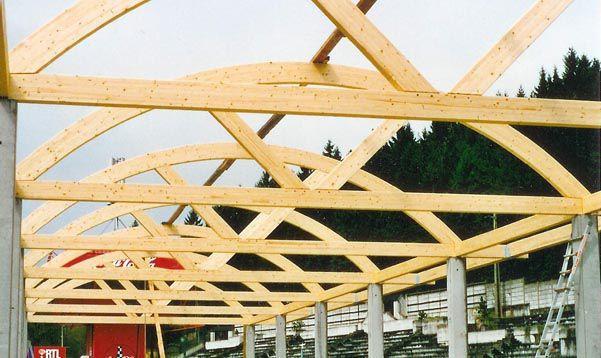 wood truss wooden roof truss glulam prefab spa francorchamp artbois sa