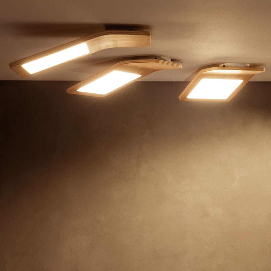 Contemporary ceiling light / plastic / LED - BUTTERFLY 01 - Tunto