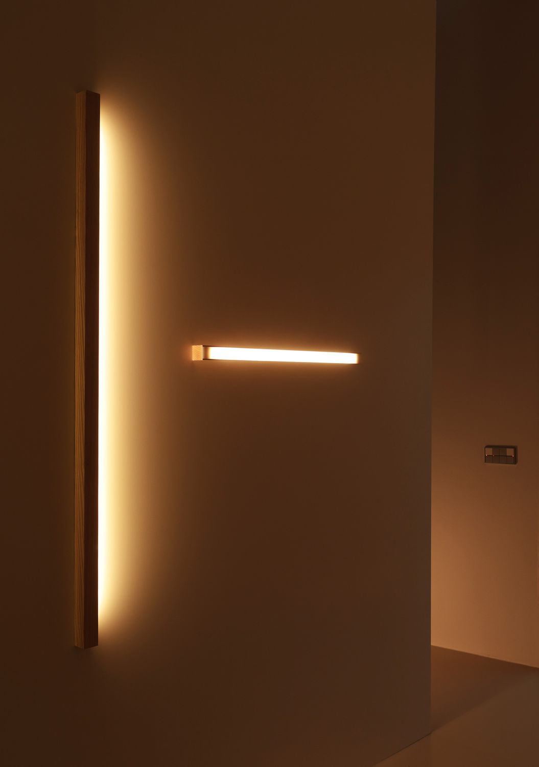 Contemporary wall light wooden led linear led40 tunto contemporary wall light wooden led linear aloadofball Images