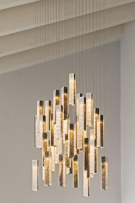 Contemporary chandelier glass led custom