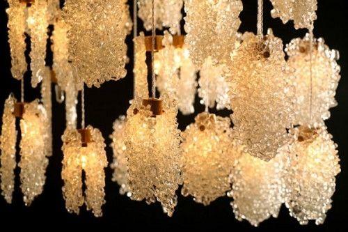 Contemporary Chandelier Quartz Crystal LED Custom PELEG - Quartz chandelier crystals