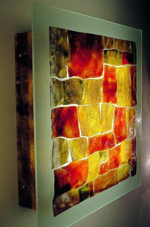 Contemporary wall light / metal / glass / fluorescent - PELEG ...